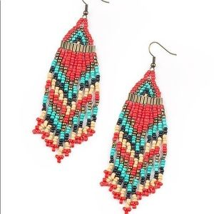 Seed bead fish hook earrings